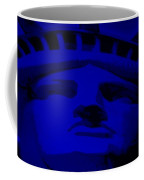 Statue Of Liberty In Blue Coffee Mug