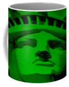 Statue Of Liberty In Green Coffee Mug