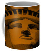 Statue Of Liberty In Orange Coffee Mug