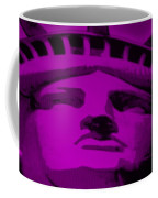 Statue Of Liberty In Purple Coffee Mug
