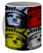 Statue Of Liberty In Quad Colors Coffee Mug
