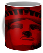 Statue Of Liberty In Red Coffee Mug by Rob Hans