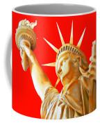 S T A T U E . O F . L I B E R T Y .  In Red Coffee Mug