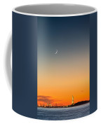 Statue Of Liberty Under A Crescent Moon Coffee Mug