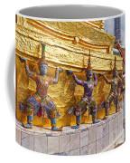 Statues At A Temple, Wat Phra Kaeo Coffee Mug