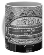Steam Boat Willie Signage Main Street Disneyland Bw Coffee Mug