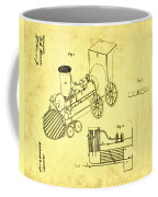 Steam Engine Patent 1869 Coffee Mug