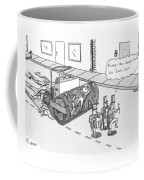 Steam Roller Driving Behind A Marching Band Coffee Mug