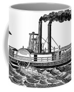 Steamboat, 19th Century Coffee Mug
