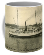 Steamer Eureka At Old Whaf Santa Cruz California Circa 1907 Coffee Mug