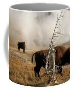 Steaming Bison Coffee Mug