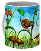 Steampunk - Bugs - Evolution Take Time Coffee Mug by Mike Savad