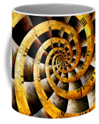 Steampunk - Clock - The Flow Of Time Coffee Mug by Mike Savad