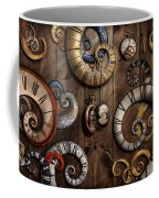 Steampunk - Clock - Time Machine Coffee Mug by Mike Savad