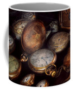 Steampunk - Clock - Time Worn Coffee Mug by Mike Savad