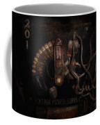 Steampunk - Electrical - Rotary Switch Coffee Mug by Mike Savad