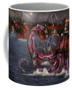 Steampunk - Enteroctopus Magnificus Roboticus Coffee Mug by Mike Savad