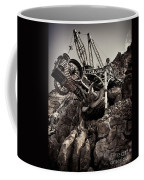 Steampunk Land Boring Machine At Disneysea Black And White Coffee Mug