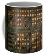 Steampunk - Phones - The Old Switch Board Coffee Mug by Mike Savad