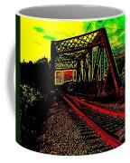 Steampunk Railroad Truss Bridge Coffee Mug