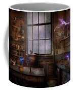 Steampunk - The Mad Scientist Coffee Mug by Mike Savad