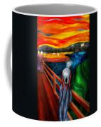 Steampunk - The Scream Coffee Mug by Mike Savad