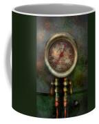 Steampunk - Train - Brake Cylinder Pressure  Coffee Mug by Mike Savad