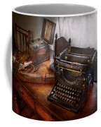 Steampunk - Typewriter - The Secret Messenger  Coffee Mug by Mike Savad