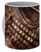 Steampunk - Typewriter - Too Tuckered To Type Coffee Mug
