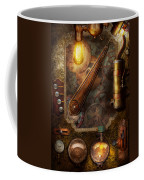 Steampunk - Victorian Fuse Box Coffee Mug by Mike Savad