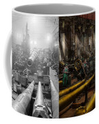 Steampunk - War - We Are Ready - Side By Side Coffee Mug
