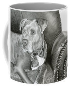 Leather And Steel Coffee Mug