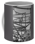 Steeple Chase In Black And White Coffee Mug