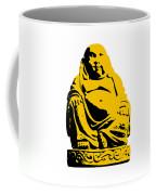 Stencil Buddha Yellow Coffee Mug