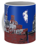 Stereo Card San Xavier Mission  Charles Fariot Photo C.1890 Coffee Mug