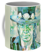 Stevie Ray Vaughan- Watercolor Portrait Coffee Mug