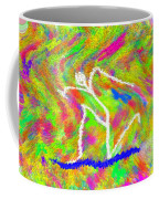 Stickman  Surfing  The  Colors Coffee Mug