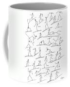 Stickmen  Surfing Coffee Mug