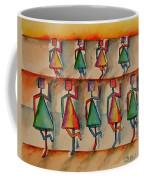 Stickwomen Performers Coffee Mug