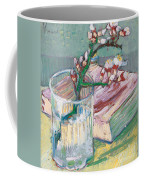 Still Life    A Flowering Almond Branch Coffee Mug by Vincent Van Gogh