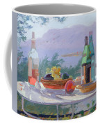 Still Life And Seashore Bandol Coffee Mug by Sarah Butterfield