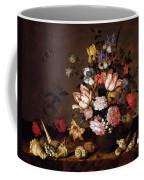 Still Life Of A Vase Of Flowers Coffee Mug