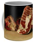 Still Life Of Sheep's Ribs And Head Coffee Mug by Francisco Jose de Goya y Lucientes