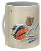 Still Life  Salmon Slices And Sardines Coffee Mug
