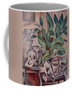 Still Life Showing Skull Coffee Mug by Kubista Bohumil