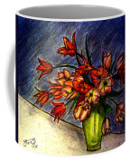 Still Life Vase With 21 Orange Tulips Coffee Mug