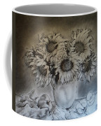 Still Life - Vase With 6 Sunflowers Coffee Mug