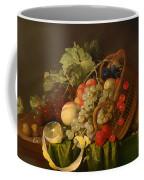 Still Life With A Basket Of Fruit Coffee Mug