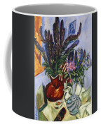 Still Life With A Vase Of Flowers Coffee Mug by Ernst Ludwig Kirchner