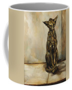 Still Life With Cat Sculpture Coffee Mug